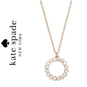 NWT Kate Spade rose gold tone CZ circle pendant